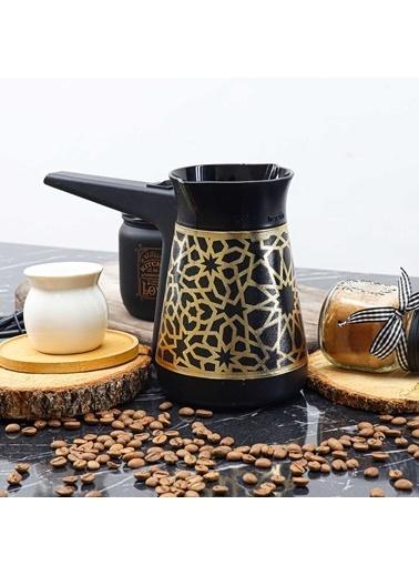Herevin Herevin Altın Yıldız Desenli Elektrikli Cezve Kahve Makinesi Renkli